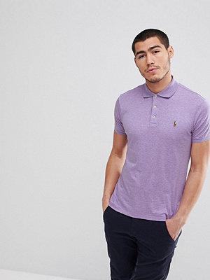 Polo Ralph Lauren Slim Fit Pima Jersey Polo Multi Player in Lilac Marl - Purple heather