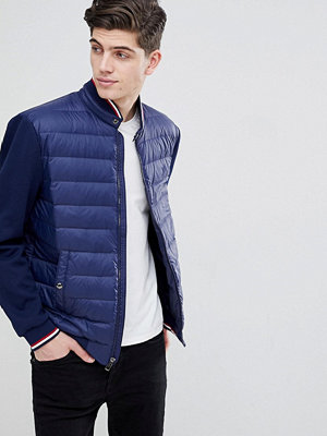 Polo Ralph Lauren Hybrid Down Bomber Jacket With Stripe Tipping in Navy - French navy