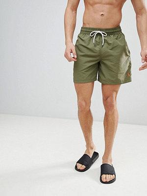 Polo Ralph Lauren Traveller Swim Shorts Player Logo in Olive Green - Basic olive