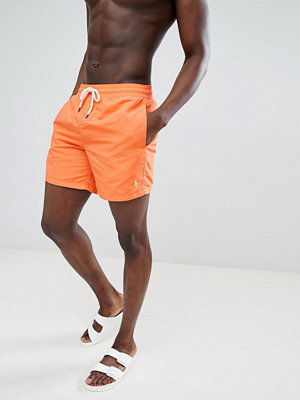 Polo Ralph Lauren Traveller Swim Shorts Player Logo in Bright Orange - Electric melon