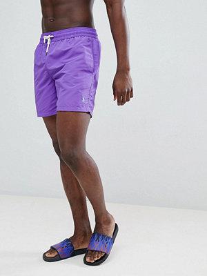 Polo Ralph Lauren Traveller Swim Shorts Player Logo in Bright Purple - Tie purple