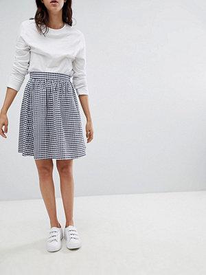 Mads Nørgaard Gingham Skater Skirt - Navy/ecru