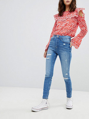 River Island Distressed Harper Jeans - Mid auth
