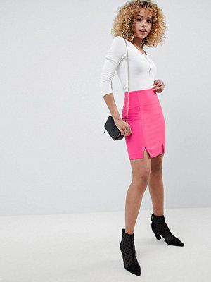 ASOS DESIGN tailored super high waist super short mini skirt - Bright pink