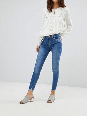 River Island Amelie Frayed Hem Super Skinny Jeans - Mid auth