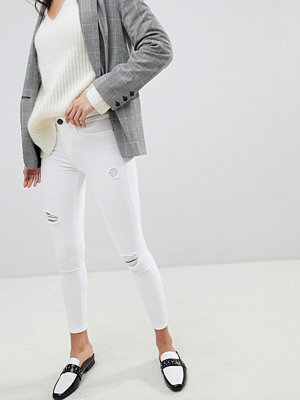 River Island Molly Distressed White Skinny Jeans