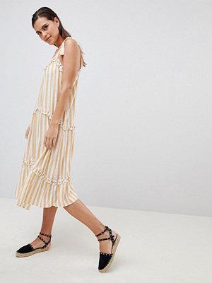 Y.a.s Striped Cami Dress With Tie Straps
