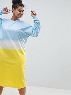 ASOS Curve ASOS DESIGN Curve oversize midi sweat dress in dip dye print