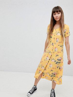 New Look Button Front Tea Midi Dress