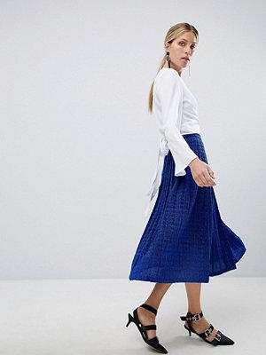 UNIQUE21 Unique 21 Blue Glitter Pleated Skirt - Cobalt glitter