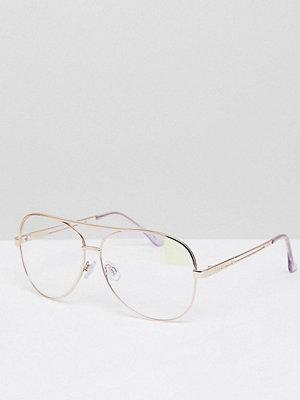 Solglasögon - River Island Clear Lens Aviator Glasses