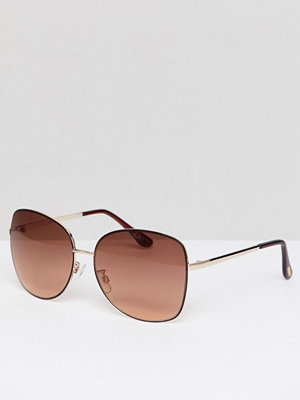 Solglasögon - Mango Oversized Metal Frame Sunglasses