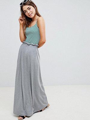 ASOS DESIGN maxi skirt with paperbag waist in grey marl - Grey marl