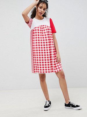 ASOS DESIGN gingham mix smock dress - Gingham