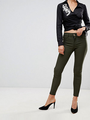 Forever Unique Skinny Jeans Kakifärgad