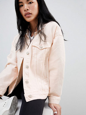 Pull&Bear oversized denim jacket with pocket detail