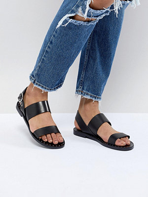 Pull&Bear double strap sandal with ankle buckle