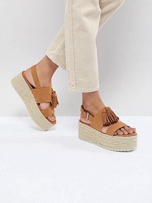 Pull&Bear tassle front heel sandal