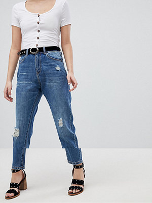 Vero Moda Aware Slitna jeans Mellanblå