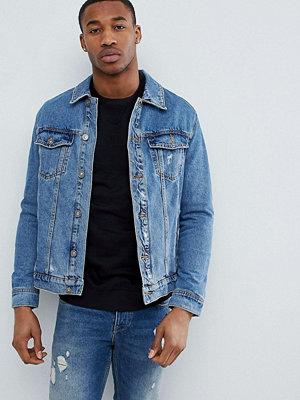 Bershka Denim Jacket In Blue