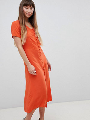 New Look Button Front Midi Tea Dress