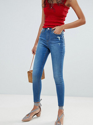 Miss Selfridge Lizzie Mid Wash Skinny Jeans