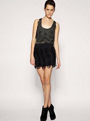 ASOS BLACK Looped Mini Skirt