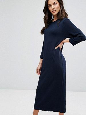 Selected Knit Midi Dress - Dark sapphire