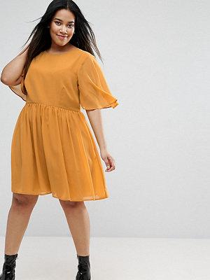 ASOS Curve Soft Cape Sleeve Mini Dress