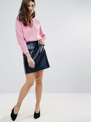 French Connection Arctic Gloss Mini Skirt - Phantom