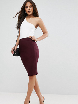 Asos Tall High Waisted Pencil Skirt - Port