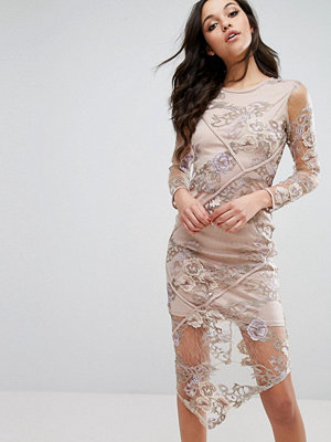 River Island Embroidered Lace Hanky Hem Dress - Mesh floral