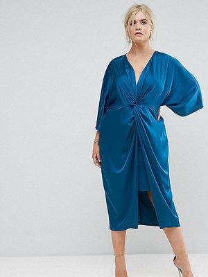 ASOS Curve Kimono Twist Front Midi Dress