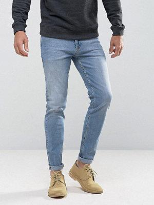 ASOS Organic Skinny Jeans In Vintage Light Wash Blue - Light wash vintage