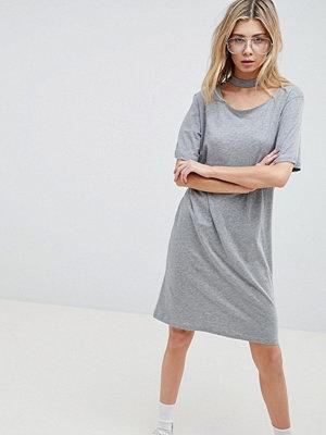 Cheap Monday Belong Neck Strap Shift Dress - Grey mel