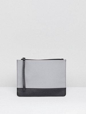 French Connection kuvertväska Grey Clutch Bag - Mid grey mel