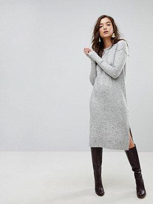 River Island Midi Jumper Dress - Lt grey