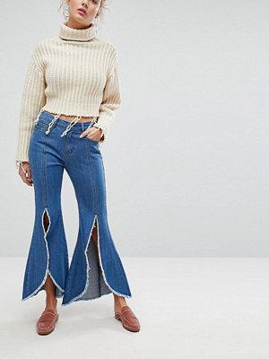 Current Air Slitsade jeans Mörkblå tvätt
