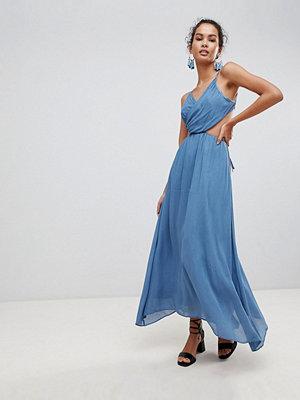 Glamorous Cut Out Cami Maxi Dress - Denim blue