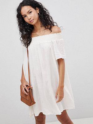 Glamorous Off Shoulder Dress - Ecru
