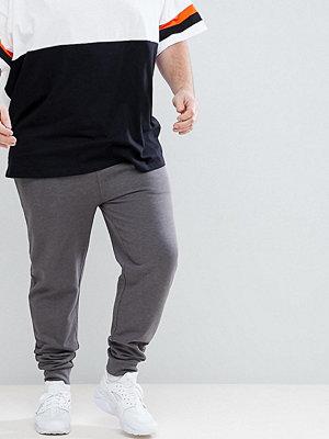 ASOS PLUS Skinny Joggers In Charcoal Marl - Charcoal marl