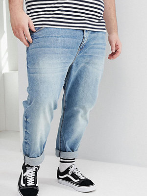 ASOS DESIGN Plus Tapered Jeans In Mid Wash - Mid wash blue