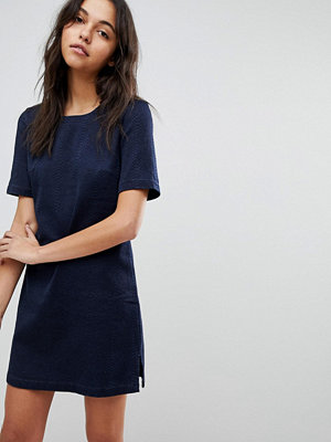 French Connection Animal Jaquard Denim Dress - Blue black indigo