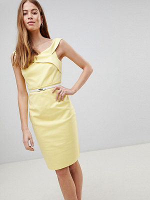 Paper Dolls Yellow Crochet Dress - Lemon