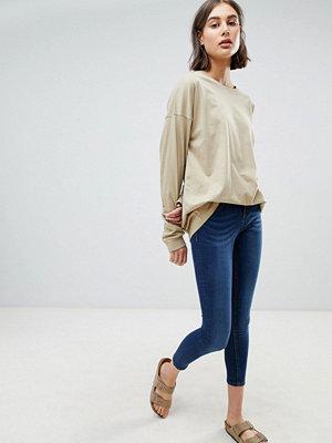 Wåven Freya Skinny jeans med medelhög midja Union blue