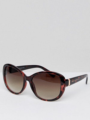 French Connection Oversized Square Sunglasses - Peach demi