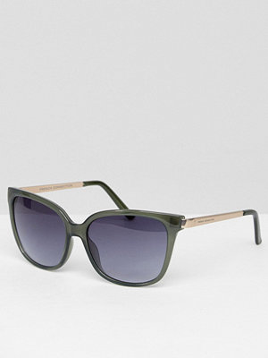 French Connection Classic Cat Eye Sunglasses - Milky green