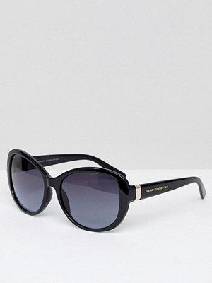 French Connection Oversized Square Sunglasses - Shiny black