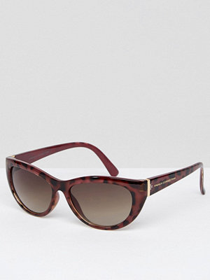 French Connection Slim Cat Eye Sunglasses - Demi wine