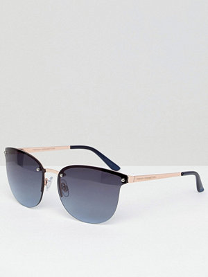 French Connection Slim Cat Eye Sunglasses - Rose gold